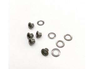 Люверсы 3 мм Черный никель (сталь) №17