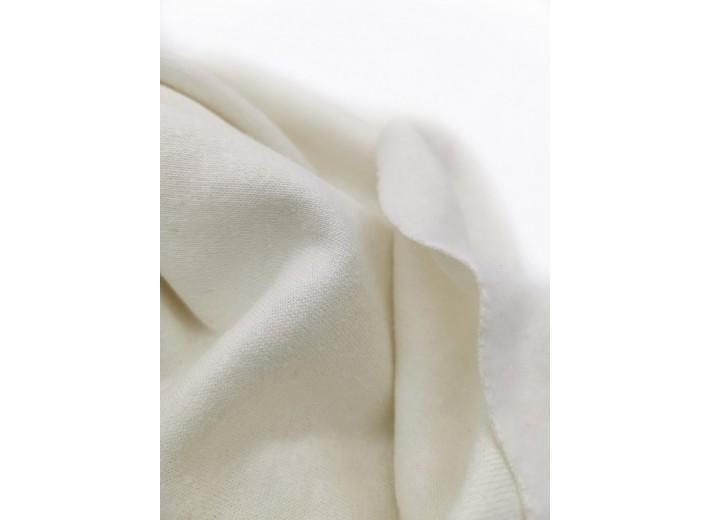 Футер 3х нитка с начесом Натуральный белый (органик) (340 г/м2)