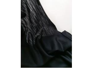 Кулирная гладь с шерстью Черно-синий