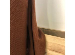 Трикотаж фактурный плательно-костюмный Терракотовый