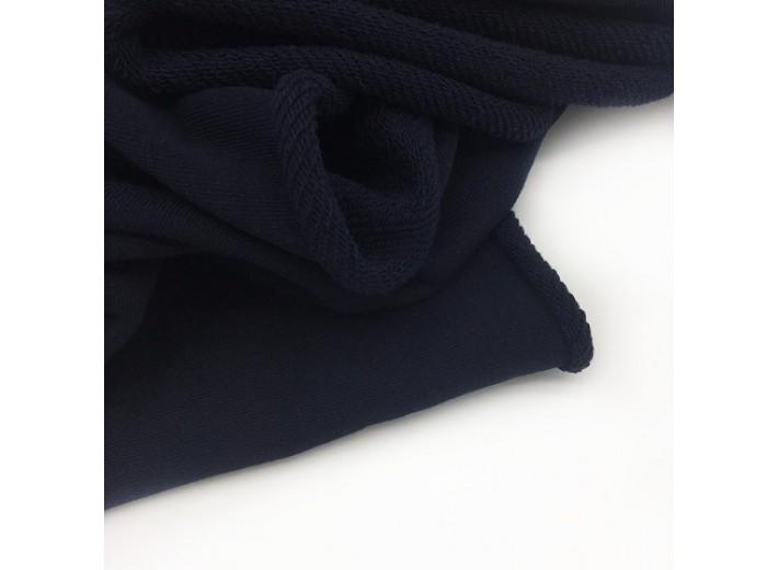 Футер 3х нитка петля Черно-синий