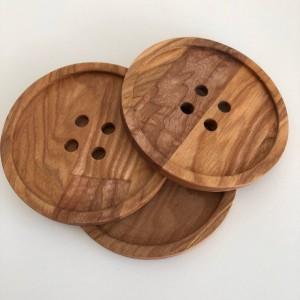 Пуговица деревянная, 10 см