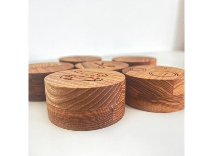 Набор деревянных грузиков, 6шт