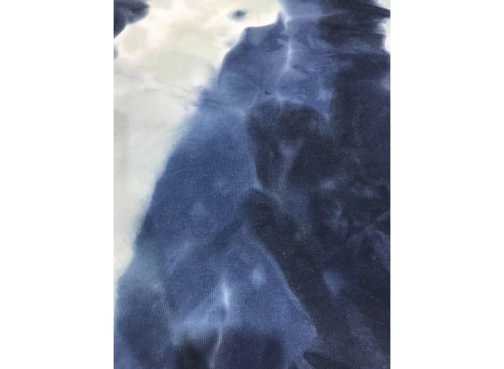 Футер 3х нитка петля тай-дай Сине-голубой