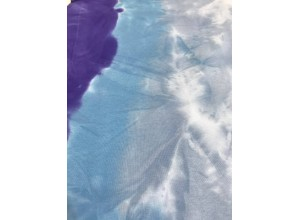 Футер 3х нитка петля тай-дай Бирюзово-фиолетовый