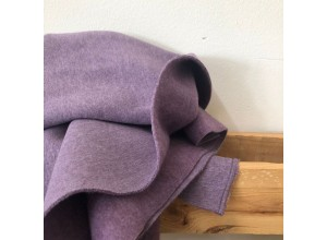 Футер 3х нитка с начесом Фиолетовый меланж