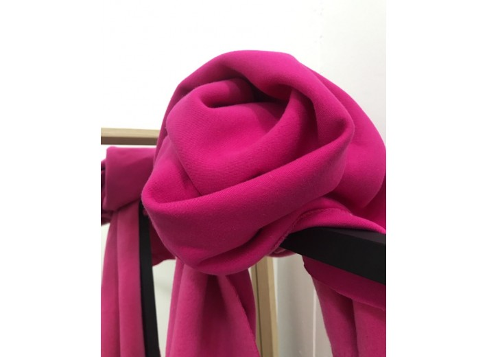 Футер 3х нитка с начесом Розовый павлин