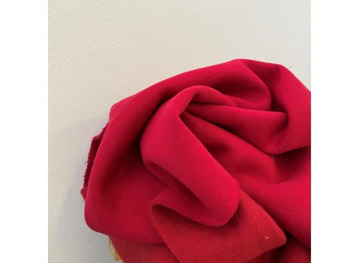 Футер 3х нитка с начесом Темно-красный