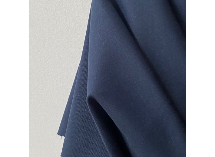Хлопок костюмно-плательный Черно-синий (265 г/м2)
