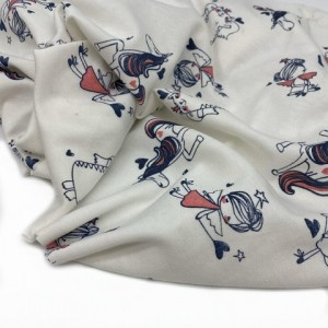 "Interlock fabric "" Unicorns and Co"""