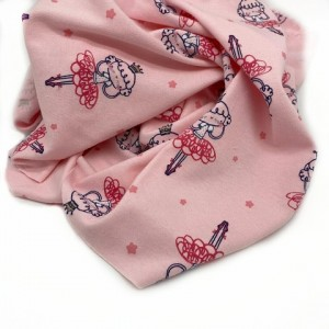 "Interlock fabric "" Princess"" on pink"