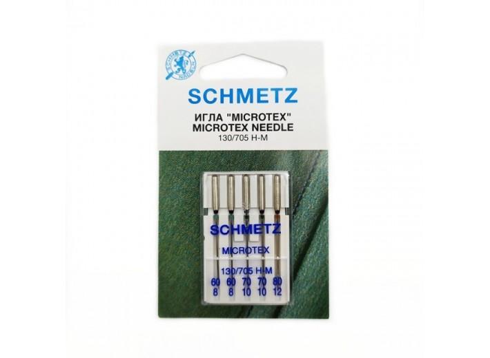 Иглы машинные SCHMETZ MICROTEX (№ 60 (2), 70 (2), 80)