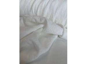 Ткань Лен крэш Молочный (155 г/м2)