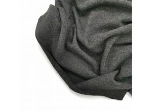 Вязаный трикотаж Темно-серый меланж (мелкая вязка)