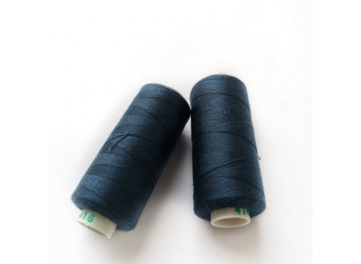 Нитки Dor Tak №416 Синий меланж (3х нитка начес)