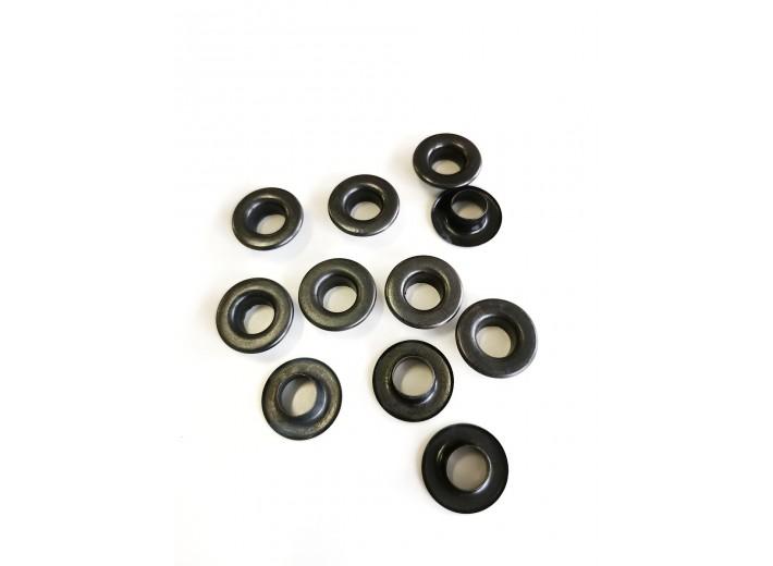 Люверсы 9 мм Черный Никель (нерж) №24