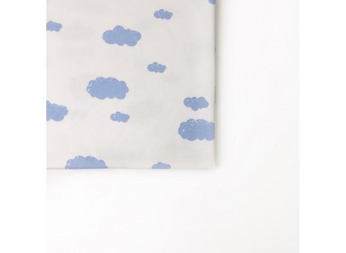 "Interlock fabric ""Blue clouds"""