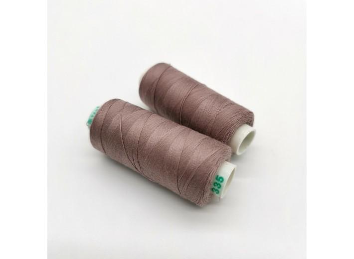 Нитки Dor Tak №335 Розовая дымка/Пыльная роза (вязаный трикотаж)/Пыльно-сливовый/Какао фламэ