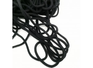 Шнур круглый 10 мм Черный 100% х/б