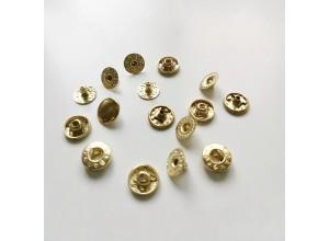Кнопка Альфа 10 мм Золото