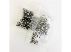 Жемчужина (Бусинка) 6 мм с шипом Черный никель (10 шт/уп)