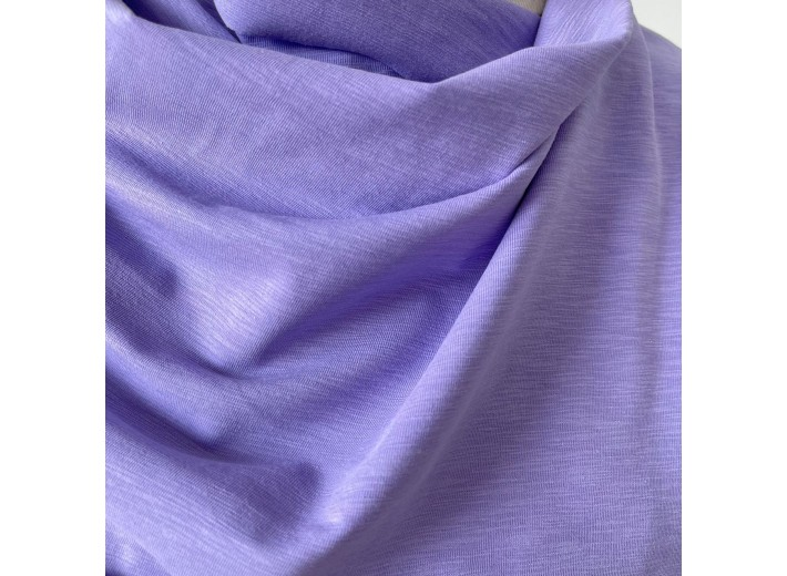 Кулирная гладь Фиолетовый тюльпан фламэ (180 г/м2)