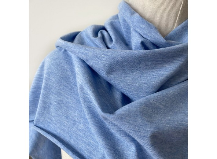 Кулирная гладь Голубой меланж (170 г/м2)