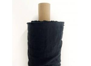Ткань Лен крэш Черный (180 гр/м2)