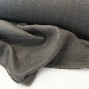 Ткань костюмная Лен Серый елочка (195 гр/м2)
