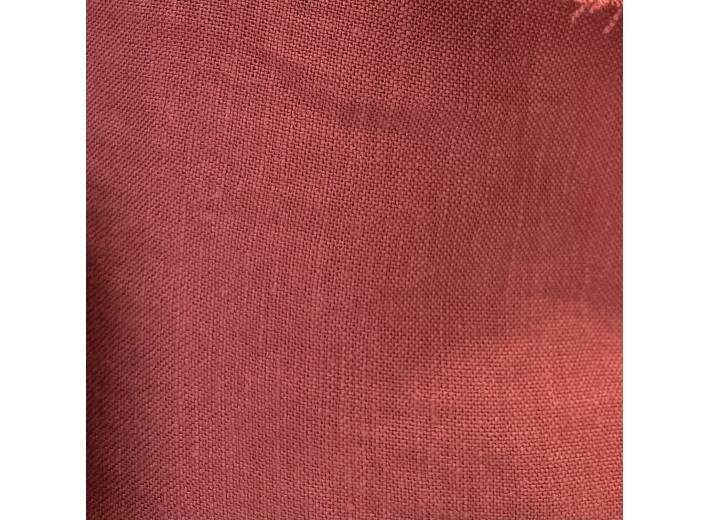 Ткань Лен крэш Клюква (195 г/м2)