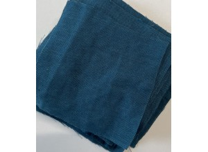 Ткань Лен крэш Морская глубина (165 г/м2)