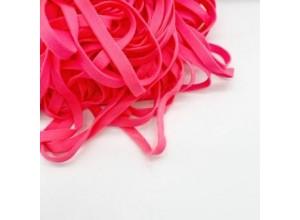 Шнур плоский 10 мм Розовый неон