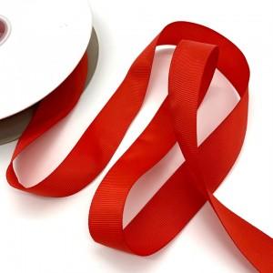 Репсовая лента Красный 25 мм