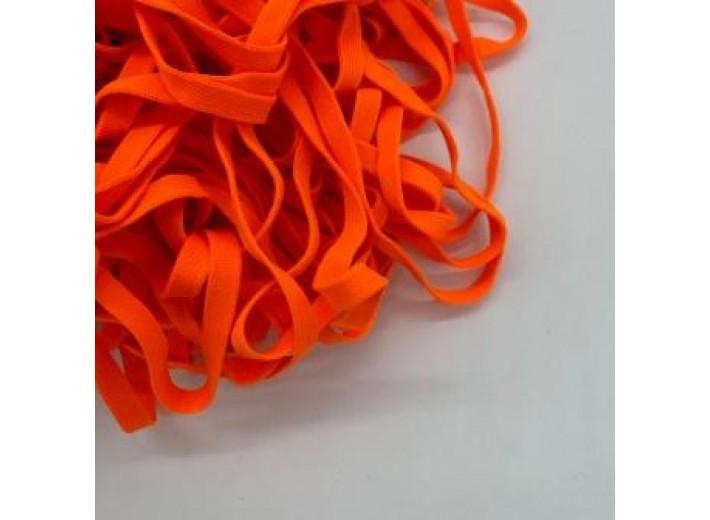 Шнур плоский 10 мм Оранжевый неон