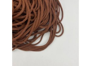 Шнур круглый Коричневый 5 мм мягкий