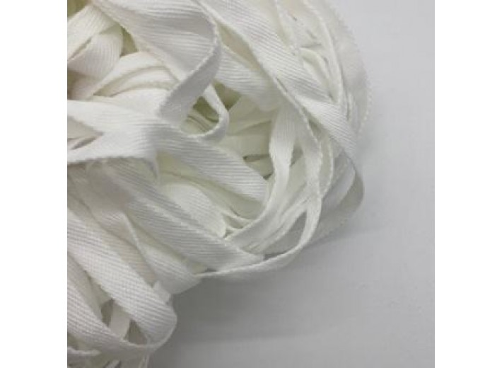Шнур плоский 12 мм Белый