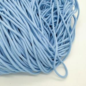 Шнур круглый Голубой 5 мм