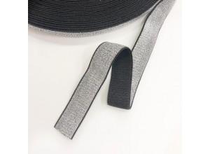 Лампасная резинка 25 мм Серебро темное