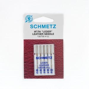 Иглы машинные SCHMETZ LEDER LEATHER (№ 80 (2), 90 (2), 100)