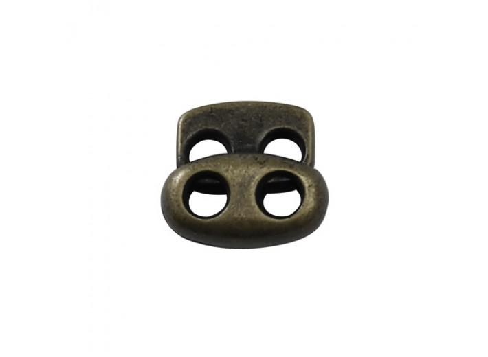 Стопор плоский на 2 отверстия 3 мм металл. Латунь