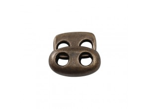 Стопор плоский на 2 отверстия 3 мм металл. Медь