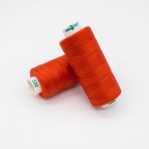 Нитки Dor Tak №592 Красно-оранжевый