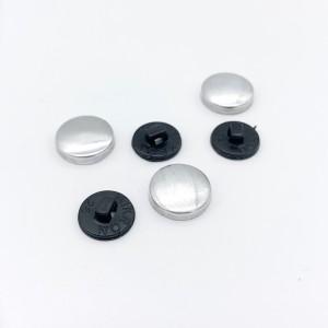 Заготовка для обтяжки пуговиц №26 (16 мм) пластик Черный