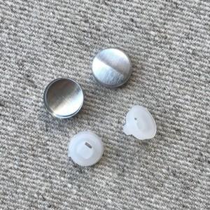 Заготовка для обтяжки пуговиц №16 (9 мм) пластик Белый