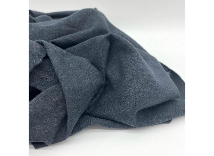 Органический трикотаж, конопля/хлопок Угольный черный (190 г/м2)