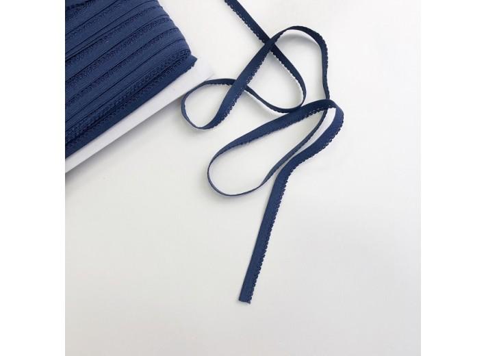 Резинка бельевая ажурная 8 мм Темно-синий