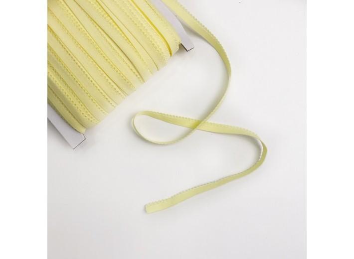 Резинка бельевая ажурная 8 мм Светло-желтый