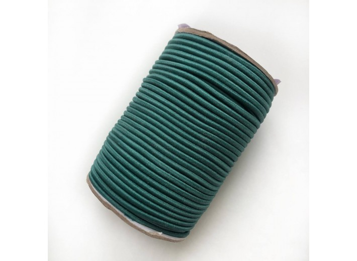 Резинка шляпная 3 мм Темно-зеленый