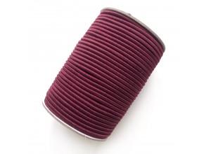 Резинка шляпная 3 мм Темно-бордовый
