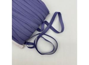 Резинка бельевая ажурная 8 мм Пыльно-черничный